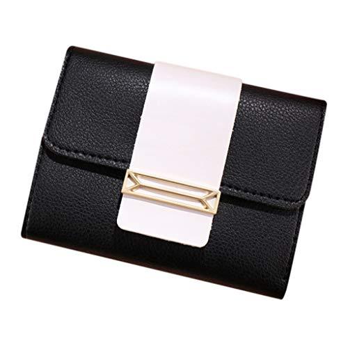 se Pouch Tasche für Kreditkarte, ID-Karte, Schlüssel, Headset, Lippenstift Mini Damen Short Stil Freizeit Kontrast Farbe Kleine Frische Kartenhalter Tasche ()