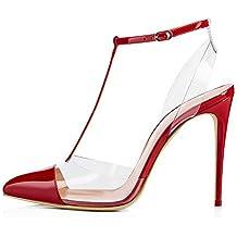 ¥ Shoes Femme Escarpins Talons Pointus Transparent Fine Chaussures Peu  Profondes Bouche 2e81cda7cfcf