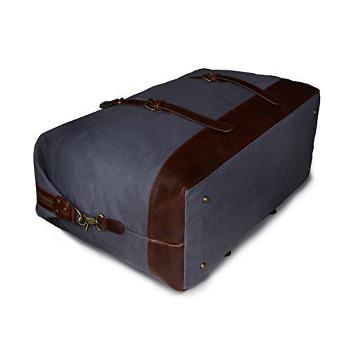Ryaco Borsone Viaggio, Borsa Palestra Sportiva Tela Capiente 53L, Resistente Ripstop Compatto Impermeabile, Duffel Bag per Viaggio Vacanza Palestra Sport, per Donne e Uomini, Grigio Grigio