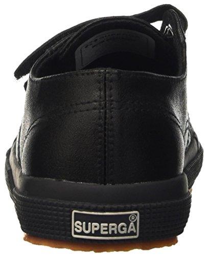 Superga Kinder-Unisex 2750-Microfiberpuvj Durchgängies Plateau Pumps Nero (Full Black)