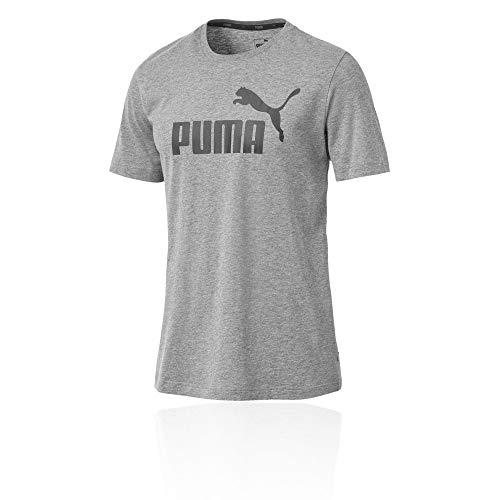Puma Herren ESS Logo Tee T-Shirt, Grau (Medium Gray Heather), L