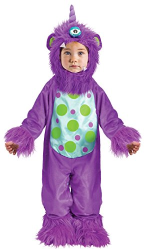 CHILDRENS LIL MONSTER TODDLER COSTUME PURPLE - LARGE (12 - 24 ()