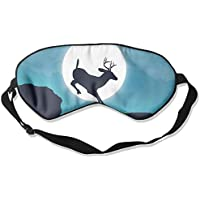 Eye Mask Eyeshade Deer Jump Moon Sleeping Mask Blindfold Eyepatch Adjustable Head Strap preisvergleich bei billige-tabletten.eu