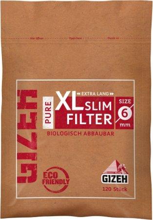 gizeh 415925015Pure XL Slim Filtro, Diametro 6mm, Lunghezza 19mm, 10x 120