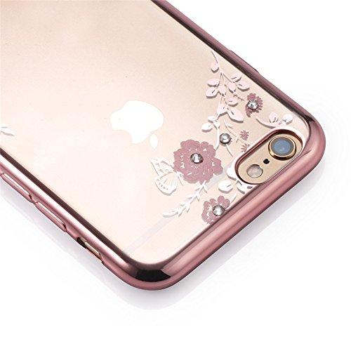 Monkey Cases® iPhone-Fleurs Case Transparent avec strass-Coque de protection-Cover