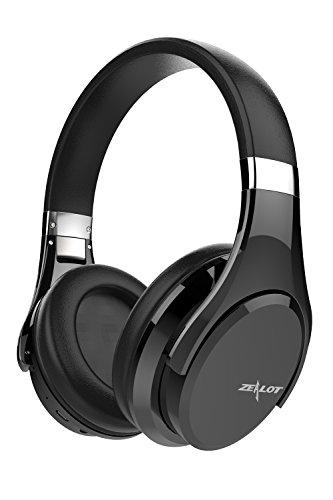 ZEALOT B21 Cuffie Wireless Bluetooth Stereo Basso, Auricolari Senza Fili Pieghevole Portatile,Touch Control/20H Playtime/Headset Over Ear con Microfone -– NERO