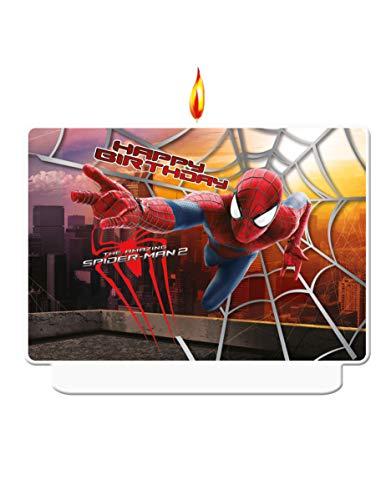 COOLMP - Juego de 6 Velas de cumpleaños de The Amazing Spiderman, tamaño único, decoración y Accesorios de Fiesta, animación, cumpleaños, Boda, Evento, Juguete, Globo
