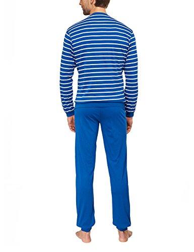 Seidensticker Herren Zweiteiliger Schlafanzug Anzug Lang Blau (blau 800)