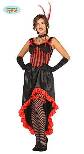 Saloon Männer Kostüm - Saloon Tänzerin Karneval Fasching Motto Party Kostüm Damen rot schwarz Gr. M und L, Größe:L