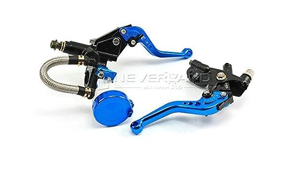 22/mm 1/paio 7//20,3/cm cilindro pompa frizione leve freno sinistra e destra set universale moto manubrio cilindro leve