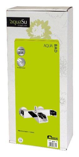 AquaSu – Badewannenarmatur, Einhandmischer, Wasserfall, Schwallauslauf, Chrom - 5
