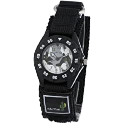 Cactus Kids Watch CAC-38-M01 With Nylon Band,Velcro And Badge