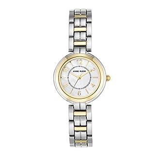 Anne Klein – Reloj de Pulsera para Mujer (Mecanismo de Cuarzo y Correa de Metal), Color Blanco y Plateado
