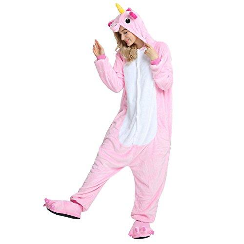 Whifan unicorno pigiama anime cosplay halloween costume attrezzatura animato pigiama inverno tuta animali