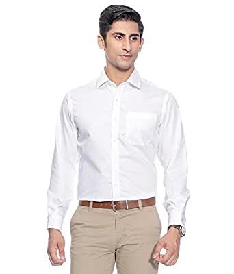 SWISSCOTT Menu0026#39;s White 100% Cotton Slim Fit Formal Shirts Amazon.in Clothing U0026 Accessories