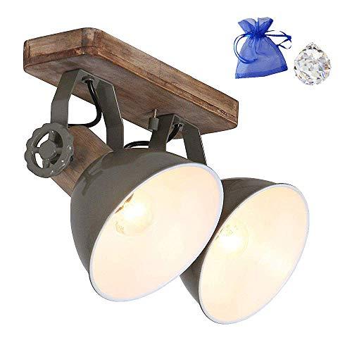 Globo 7969G - Lámpara de techo madera y metal