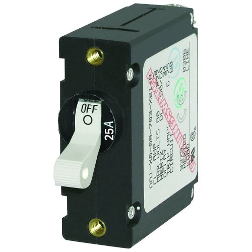 Single-circuit Lighting System (New Blue Sea 7218 AC/DC Single Pole Magnetic World Circuit Breaker - 25 Amp)