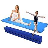 GOTOTOP 2,2m Poutre de Gymnastique Pliable Poutre Equilibre + Tapis de Gym Pliable...