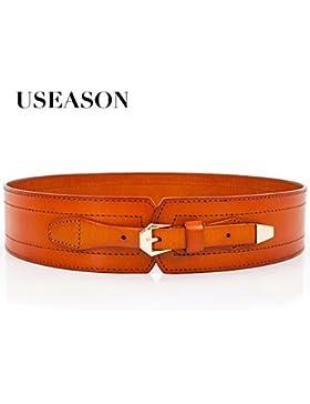 SILIU*Cabeza cinturilla ancha entoldados Sra. cinturón de cuero ancho de fajas falda abajo personalidad hembras...