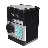 Il pacchetto include:   1 x salvadanaio 1 x cacciavite  1 x manuale in inglese Specifiche:   Materiale: acrilonitrile-butadiene-stirene (ABS)  Tensione: 4,5 V (3 batterie AA, non incluse)  Colore: Nero Dimensioni: 13x12x19cm  Funzioni:   Ban...