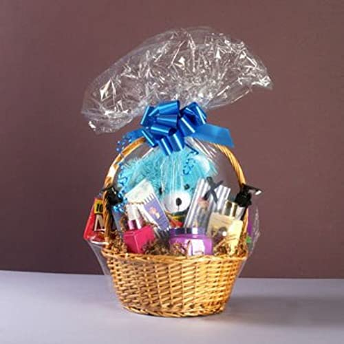 Easter basket gifts amazon cellophane shrink wrapper 24 x 30 for gift baskethamper 5 bagsdoes not include basket or hamper negle Gallery