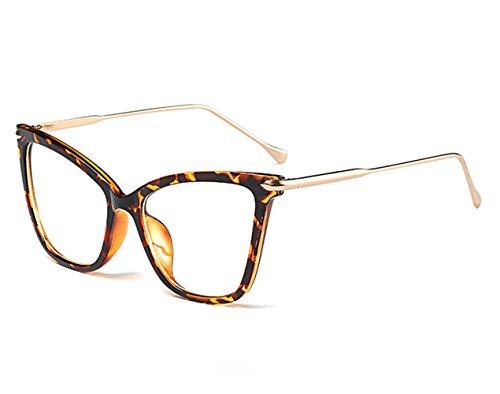 zhxinashu Damen Katzenaugen Sonnenbrille Lustig Kunststoff Cateye Vintage Groß Schutz Brillenträger Party Klassisch Retro