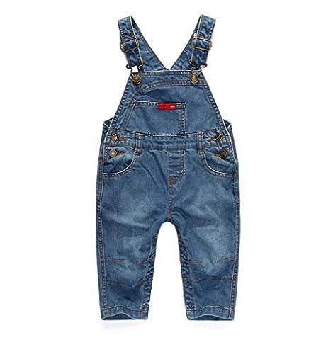 Little Kids Denim Dungarees Children Stone Wash Jeans Toddler Infant