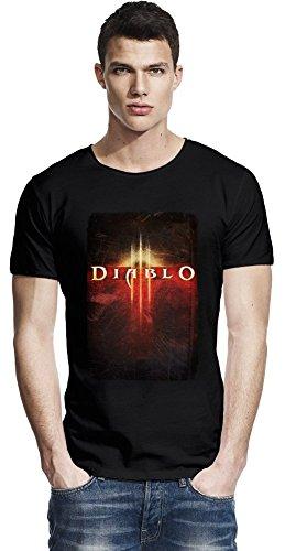 Diablo III Poster Raw Edge-T-Shirt Large - T-shirt 3 Diablo