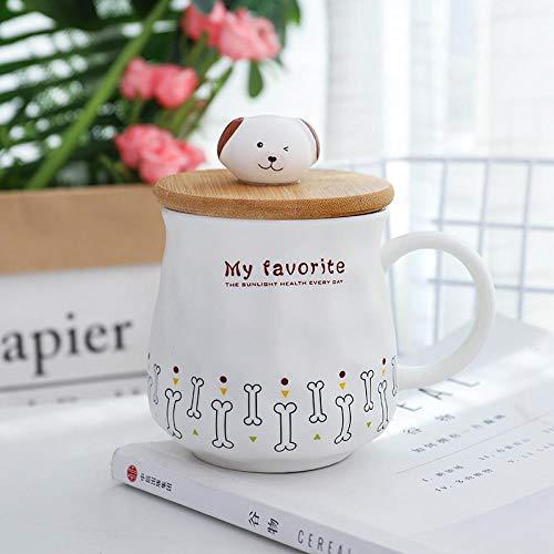 LGGLQW Porzellanbecher Porzellan niedlichen Cartoon Hundeknochen, die Tasse Kaffee Trinken Milch Tee...
