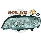 1290380, 1 Paar Angel Eyes Scheinwerfer Chrom für X5 E53 von 1999 bis 2003