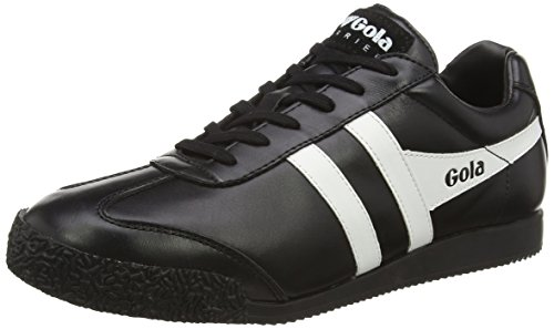 GolaHarrier Leather - Scarpe Sportive Outdoor uomo , Nero (Nero (Black/White)), 43