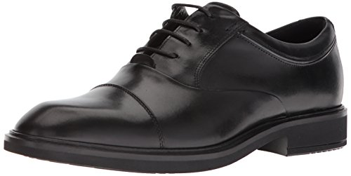 ECCO Men's Vitrus II Tie Oxford, Black Cap Toe, 44 M EU (10-10.5 US) Ecco Cap