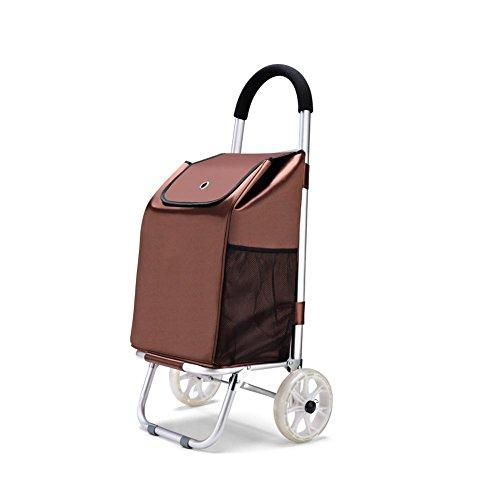 Falten Warenkorb Portable Downstairs zu kaufen Lebensmittel Kleine Cart Save Aluminium Trolley , D