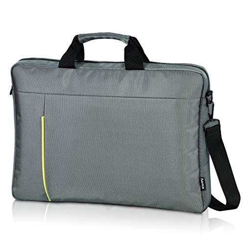 Hama Laptoptasche, für Notebooks bis 40cm/15,6 Zoll, Kapstadt II (Umhängetasche mit Schultergurt, Kofferschlaufe, Henkel, Zubehörfach) Laptop-Hülle, Tragetasche grau/grün