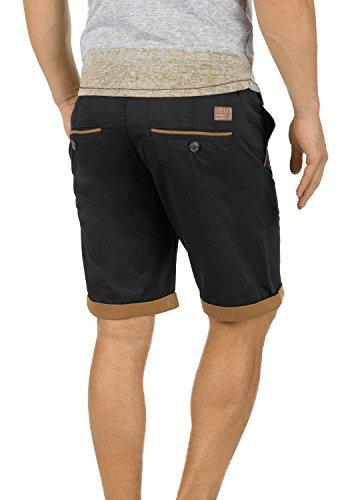 BLEND Neji Herren Shorts kurze Hose Basic-Shorts mit Gürtel aus 100% Baumwolle Black (70155)