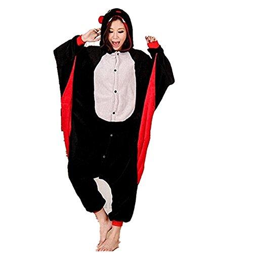 Imagen de colorfulworld kigurumi pijamas juguetes y juegos animal ropa animales pijama cosplay disfraces xl, murciélago  alternativa