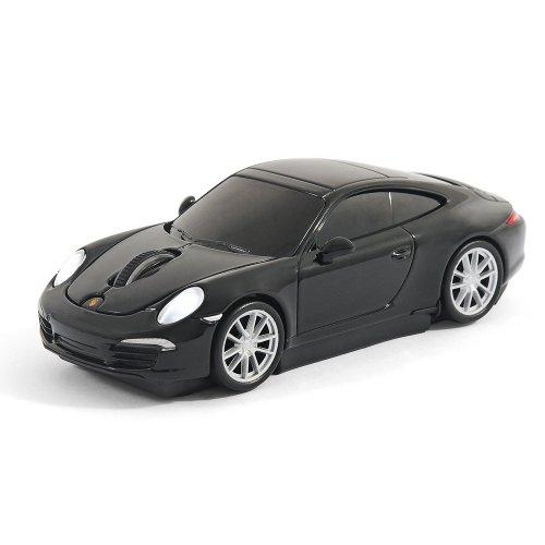 Offiziell lizenziertes Produkt - Laser Computermaus Funk maus - Porsche 911 (991) Carrera S - Schwarz