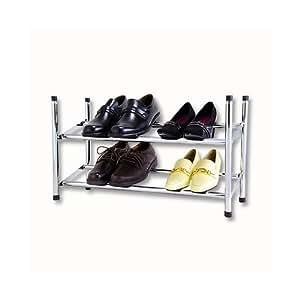 design schuhregal chrom stapelbar und ausziehbar k che haushalt. Black Bedroom Furniture Sets. Home Design Ideas