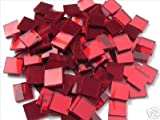 Best Red Mirrors - 50 x 12.5mm Glass Cherry Red Mosaic Mirror Review