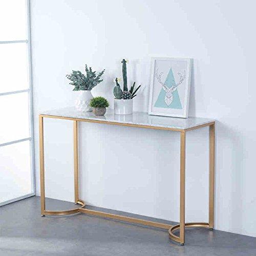 HQQ Nordic Showcase Moderne Minimalistische Schreibtisch OP-Tisch Eintrag Schmiedeeisen Konsole Tisch Marmor Konsole Tischgestell (Schmiedeeisen-konsole)