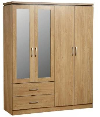 Charles 4 Door 2drw Wardrobe by Seconique