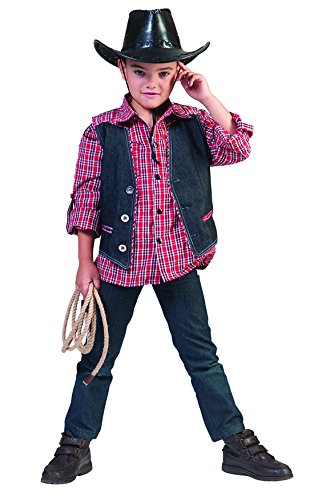 Kostüm mit passender Weste für Jungen, 116-122, 6-7 Jahre, Mehrfarbig (Kleinkind Wild West Cowboy Kostüme)