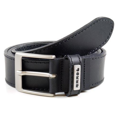 JOKER Gürtel für Jeans Büffelleder schwarz, Weite 105