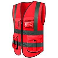 RAINCOAT Fahrradanzug- Reflektierende Weste, Hygiene Worker Kleidung Verkehr Fluoreszierende Anzugsweste Reflektierende Kleidung, Männlich -Regenmantel (größe : XXL, UnitCount : 2 Pieces)