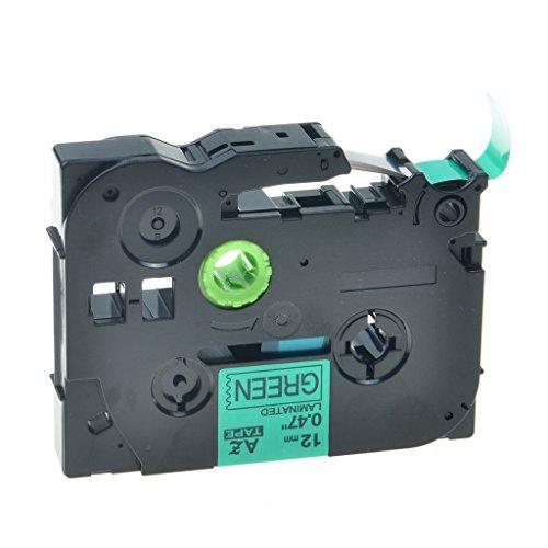 nineleaf Labeling Tape für Brother TZE131TZE231Schriftband TZE431TZE631TZE7311/5,1cm schwarz print Transparent/Weiß/Rot/Blau/Gelb/Grün Tape P-Touch Label Maker TZE-731(Black on Green)
