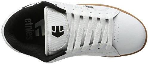 Etnies Herren Fader Skateboardschuhe, Schwarz Weiß (White/Gum)