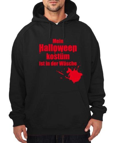 ::: MEIN HALLOWEENKOSTÜM IST IN ... ::: Hoodie Herren, Schwarz/Rot, (Herren Zahnfee Kostüm)