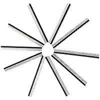PKA - Agujas curvadas de 40 pines de 2,54 mm para cabezal de una fila