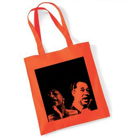 ella-fitzgerald-and-duke-ellington-orange-tote-bag