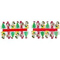 TOYLAND Pack de 24 Clavijas navideñas de Mickey y Minnie Mouse - Tarjetero navideño - Decoraciones novedosas